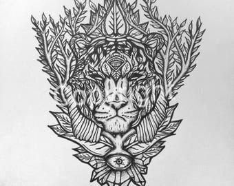 Organic Tiger (Print)