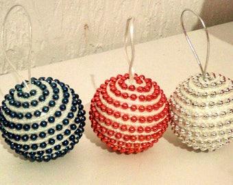 Christmas crochet and beaded ball