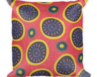 African Daisy Square Pillow