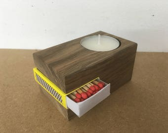 Tea light and matchbox holders