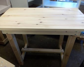 Bespoke rustic reclaimed pine kitchen  dining table