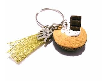 Chocolate Cupcake keychain