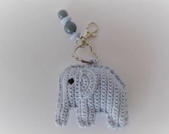 Diaper bags-Key chain in blue
