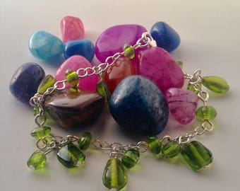 Apple Green Glass Bead Bracelet