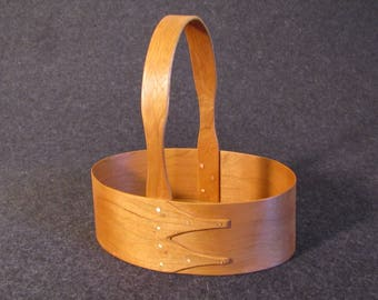Shaker Cherry Wood Basket or Carrier #3 Size