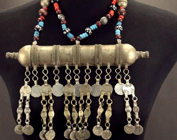 Turkoman Tribe Tumar NECKLACE Bellydance Tribal Dance 812s10