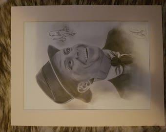 Frank Sinatra charcoal portrait