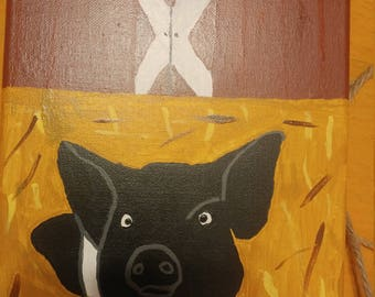 Hog Days paint hand made