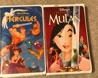 Mulan and Hercules Masterpiece Collection VHS