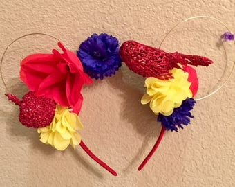 Snow White Flower Mickey Ears