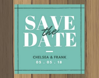 5x5 Custom Save The Date Wedding Announcement Invitation Reminder