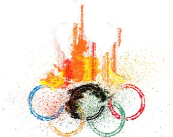 Digital Painting/Abstract Painting/Olympics/Digital Print/Instant digital download