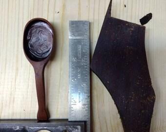 Reclaimed black walnut small scoop