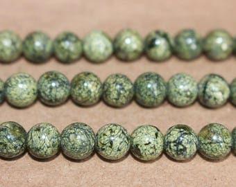 8mm Serpentine Round Beads,loose beads,semi-precious stone,15 Inches Full strand