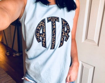 Monogrammed Comfort Colors Tank Top