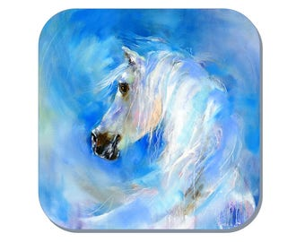 Equine Coaster - Horse Coaster (Corked Back) - from an original Sheila Gill Watercolour Painting