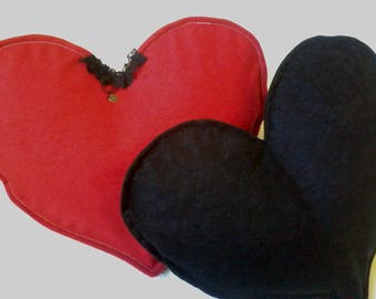 1 pair of cushions heart pillows in love Valentine's day
