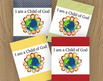 I am a Child of God Printable, 2018 Primary Theme, LDS Primary Printable, LDS Primary Handout, Primary Birthday Tag