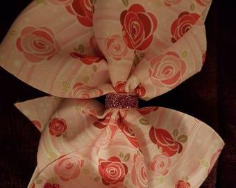 Pink Roses Hair Bow