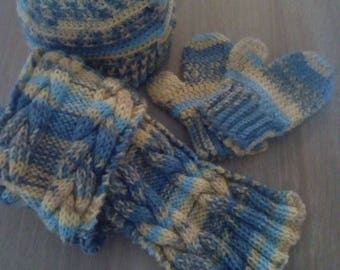 Scarf, hat and gloves Set