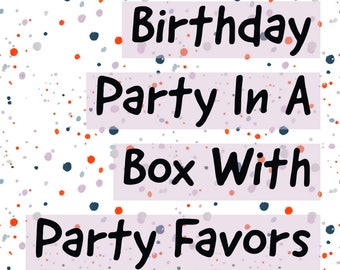 Kids Birthday Party in a Box with Party Favors