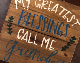 Hand lettered wooden sign