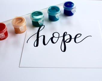 hope 5x7 print