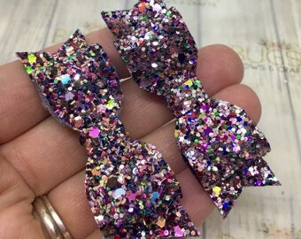 Baby hair bows, Fringe clips, glitter clips, sparkly hair clips, pigtail bows