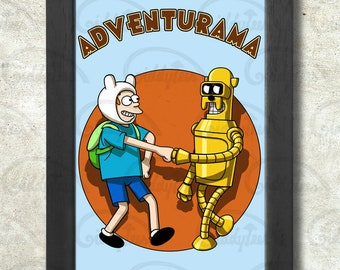Adventurama print + 3 for 2 offer! size A3+  33 x 48 cm;  13 x 19 in