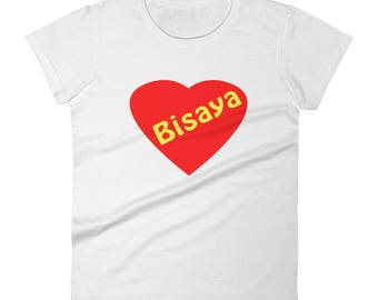 Bisaya Love Pinoy Women's short sleeve t-shirt Philippines Filipino Heart