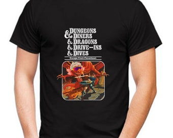 Dungeons and Diners and Dragons and Drive Shirt, Dungeons and Diners and Dragons and Drive Ins and Dives Escape from Flavortown T-Shirt