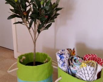 Fabric storage/planter bag