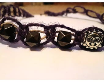 Two different styles of hemp string sun beaded necklaces. Contact us for a custom piece of jewlery.