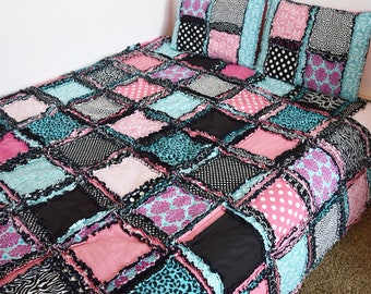 Easy Peasy Twin Size Rag Quilt Pattern - Quilt Pattern - Kid Sewing Pattern - Easy Quilt Patterns - Simple Quilt Pattern - Sewing Pattern