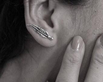 Earring Spirale Feder