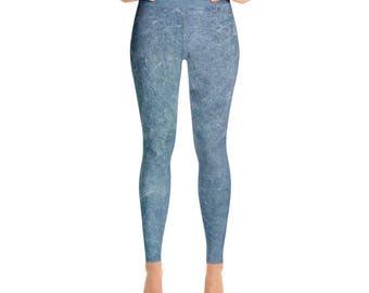 Yoga Leggings -Ocean Blue by City Gear and Merch