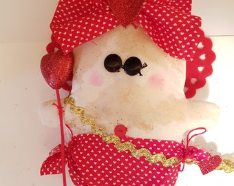 "Grungy Cupid ""Cupid Cordelia"" - A Rag Doll made with love Valentine"