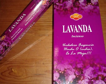 Lavender Incense sac or Ganesh 120 rods/6 for 20 Uni