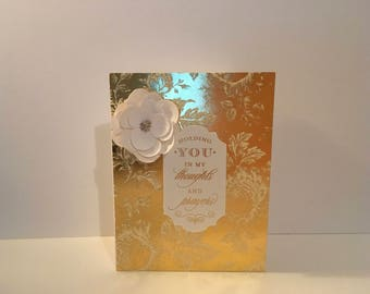 Handmade Sympathy Card- Holding you in my thoughts and prayers