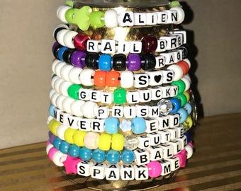 10 Assorted Kandi EDC Bracelets Random Plur