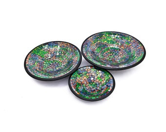 Handmade terracotta set of plates from Bali Indonesia. Set of 3 pieces.