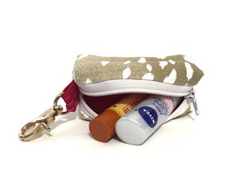 Lip Balm Keychain - Lip Balm Holder - Portable Zip Drive Holder - Handmade Keychain - Zipper Keychain - Gifts Under 20 - Mother's Day Gifts