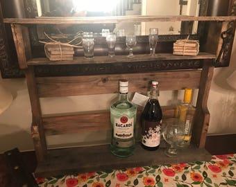 Upcycled Pallet Wood Bar Shelf