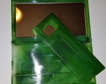 Vintage Comb Case with Mirror