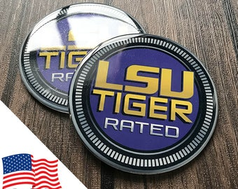 2PCS Jeep Wrangler Custom Badge Emblem (Trail Rated) 07-18 LSU