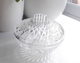French vintage sugar candy glass arcoroc 60s art deco style