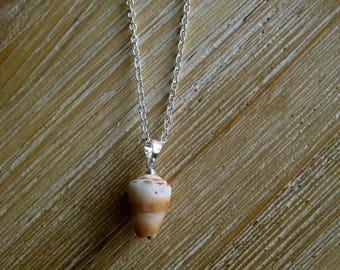 Hawaiian cone Shell Pendant Necklace.