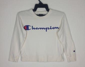 Champion Big Logo Spellout Embroidery Sweatshirt Saiz 140