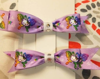 Hello Kitty pigtail bows