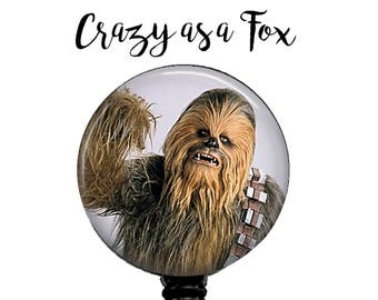 Star Wars Chewbacca Retractable Badge Holder, Badge Reel, Lanyard, Stethoscope ID Tag, Teacher, Nurse MD RN Cna Gift